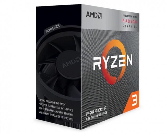 PROCESADOR AMD RYZEN 3 3200G NUEVA GENERACIÓN 4 NÚCLEOSFÍSICOS 3.6GHZ, MODO TURBO 4GHZ Y 6MB DE CACHE SOCKET AM4 14 NANOMETROS DESBLOQUEADO PARA OVERCLOCK