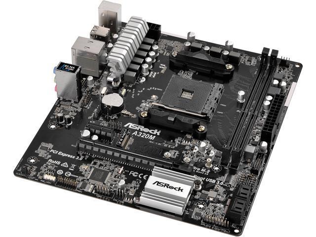 TARJETA MADRE AMD A320 CON USB 3.0, SATA-3 DE 6GB/S, HASTA 32GB DE MEMORIA RAM DDR4, PCI EXPRESS 3.0, RED GIGABIT, RANURA M.2, SOPORTA PROCESADORES RYZEN 7 1800X