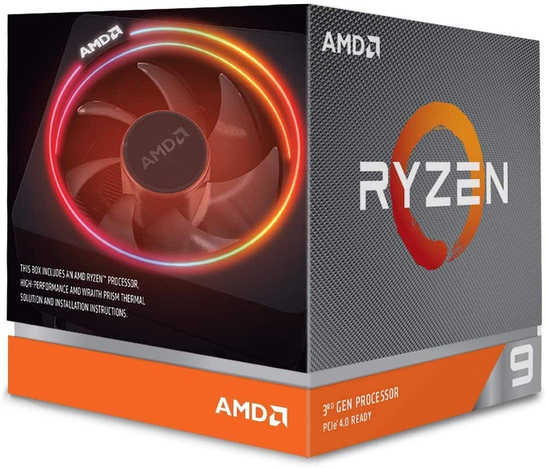 SUPER PROCESADOR AMD RYZEN 9 3900X12 NÚCLEOS 24 HILOS 3.8GHZ, TURBO 4.6GHZ Y 64 MB DE CACHE SOCKET AM4 7 NANOMETROS COMPATIBLE CON OVERCLOCK Y XFR