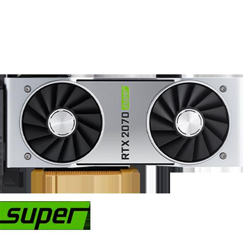 ULTRA TARJETA DE VÍDEO NUEVA GENERACIÓN NVIDIA GEFORCE RTX-2070 SUPER 8GB G-DDR6 GAMA ALTA 256BITS POTENCIA INCREIBLE EN 4K Y VR REALIDAD VIRTUAL