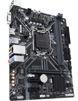 TARJETA MADRE INTEL H310 CON USB 3.1, SATA-3 DE 6GB/S, HASTA 32GB DE MEMORIA RAM DDR4, PCI EXPRESS 3.0 y COMPATIBLE CON M.2, COMPATIBLE CON PROCESADORES CORE I7