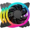 3 VENTILADORES DE 120MM CON LUZ RGB