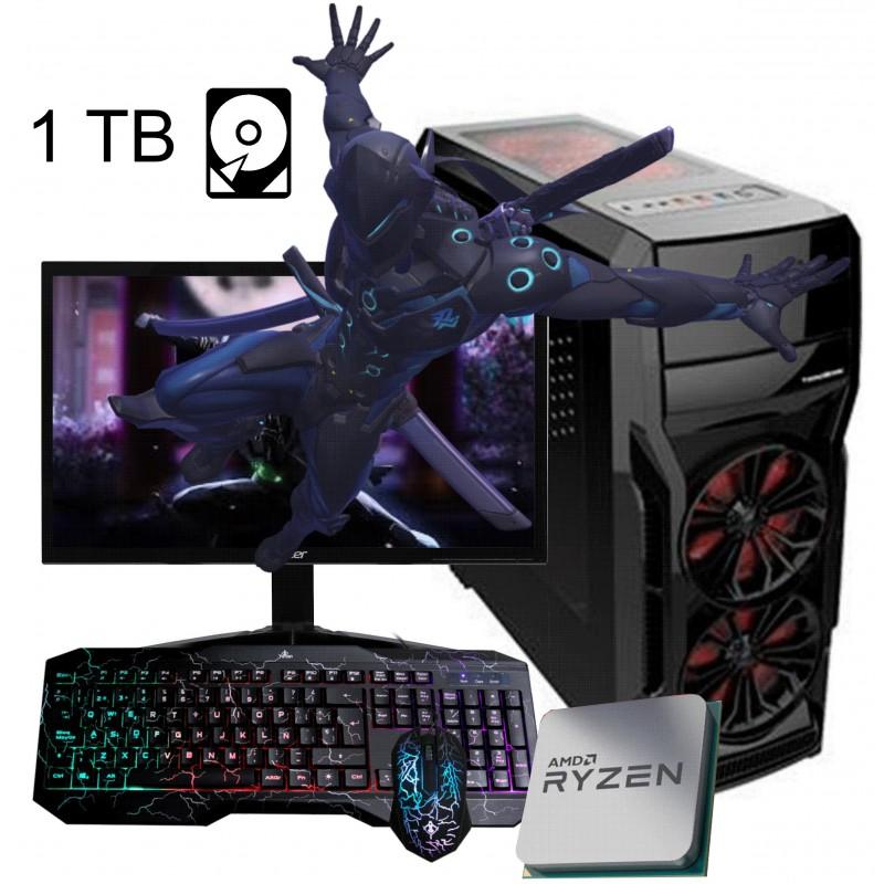 Pc gamer amd ryzen 5 3400g pantalla