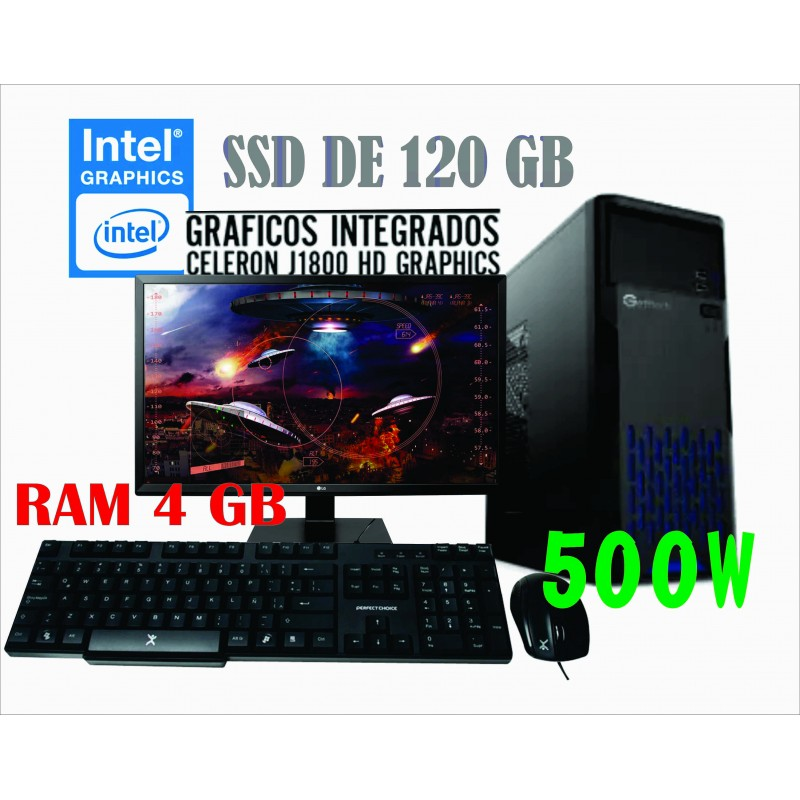 PC J1800 INTEL CELERON 2.4GHZ MONITOR LED