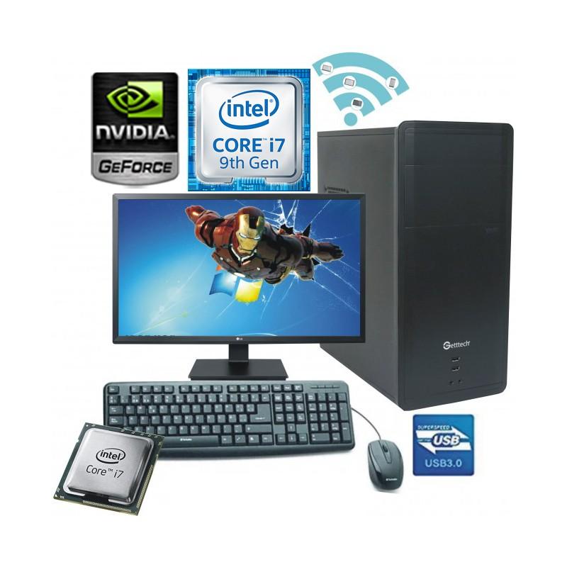 PC INTEL CORE I7-9700F MONITOR LED