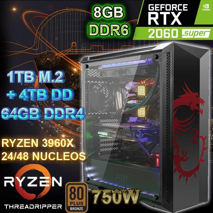 PC THREADRIPPER 3960X 24/48 NÚCLEOS