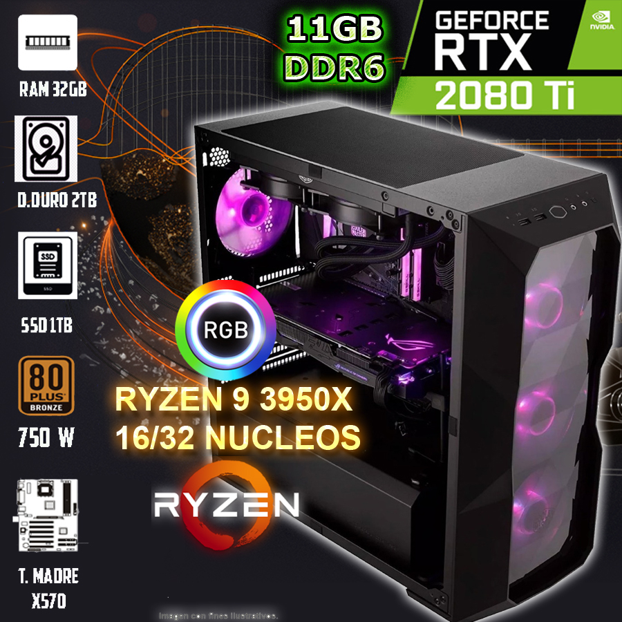 Pc gamer amd ryzen 9 3950x 1632