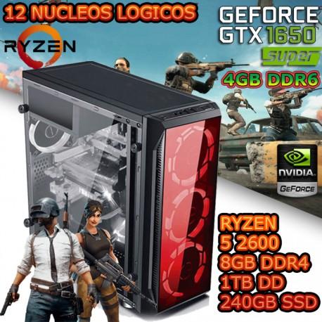 CPU GAMER RYZEN 5 2600 NVIDIA GTX-1650