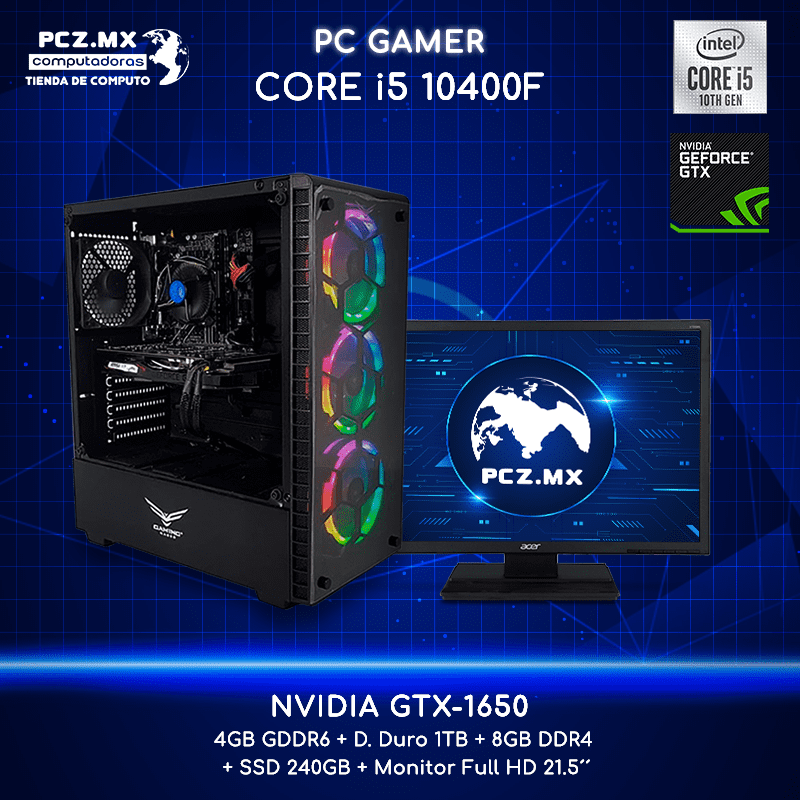 PC GAMER CORE I5-10400F 6 NÚCLEOS NVIDI